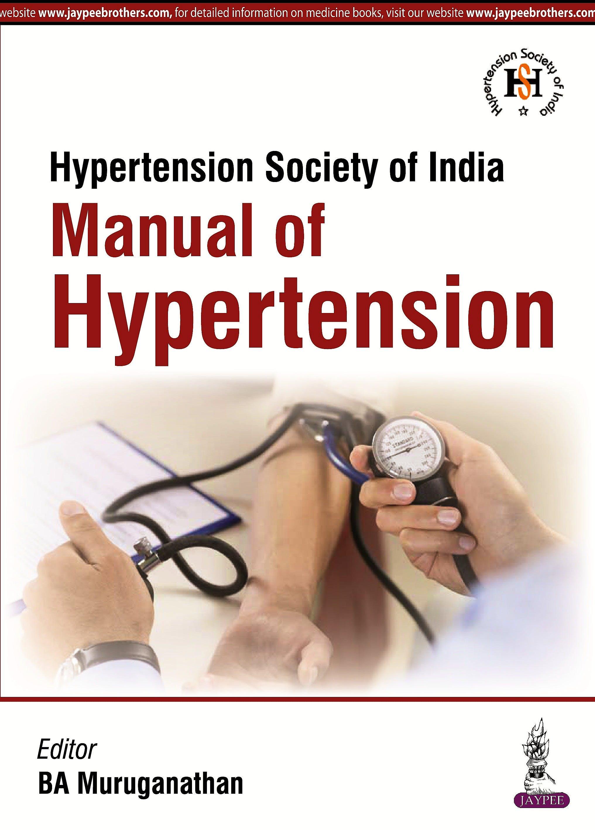 Portada del libro 9789352500307 Manual of Hypertension
