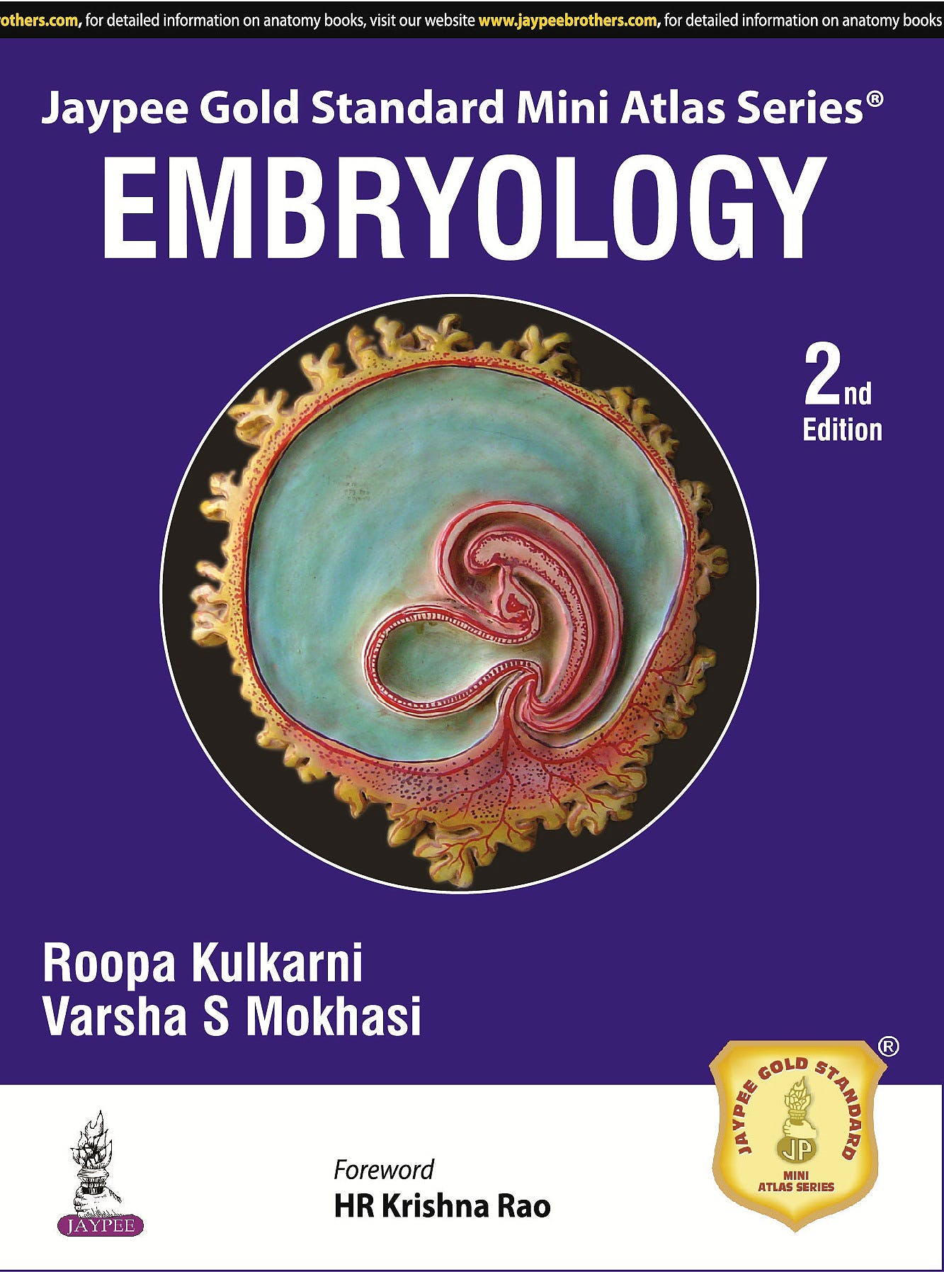 Portada del libro 9789352501595 Embryology (Jaypee Gold Standard Mini Atlas Series)