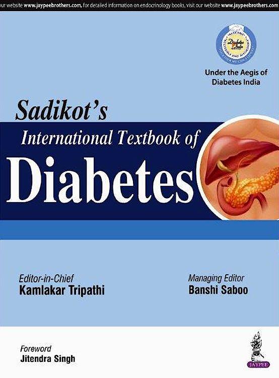 Portada del libro 9789352700325 Sadikot's International Textbook of Diabetes