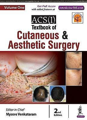 Portada del libro 9789352700332 ACS(I) Textbook of Cutaneous and Aesthetic Surgery, 2 Vols.