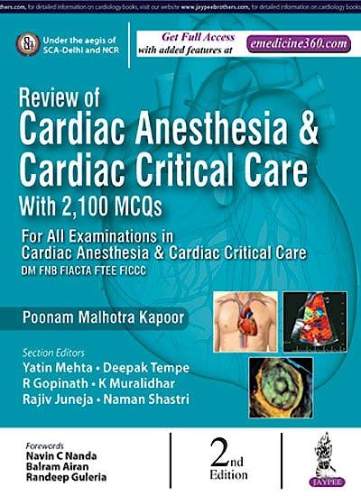 Portada del libro 9789352700660 Review of Cardiac Anesthesia and Cardiac Critical Care with 2.100 MCQs