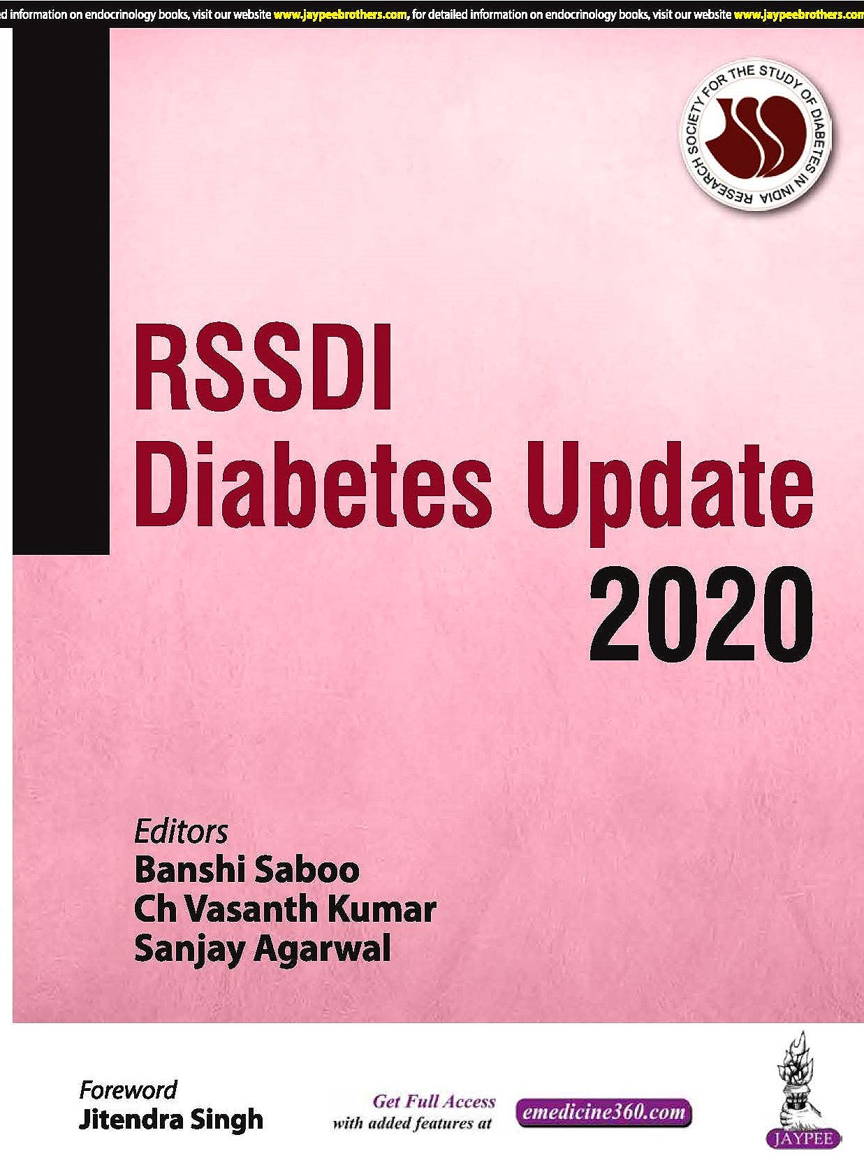 Portada del libro 9789352701261 RSSDI Diabetes Update 2020