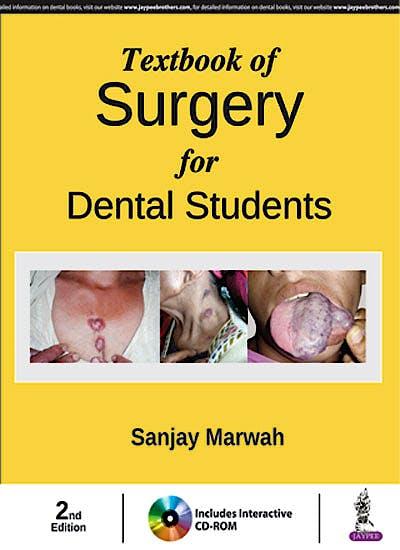 Portada del libro 9789352702374 Textbook of Surgery for Dental Students + DVD-ROM
