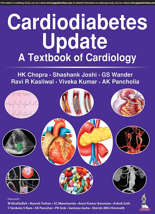 Portada del libro 9789352703043 Cardiodiabetes Update. Textbook of Cardiology