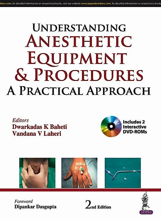 Portada del libro 9789352703166 Understanding Anesthetic Equipment and Procedures + 2 DVD-ROMs