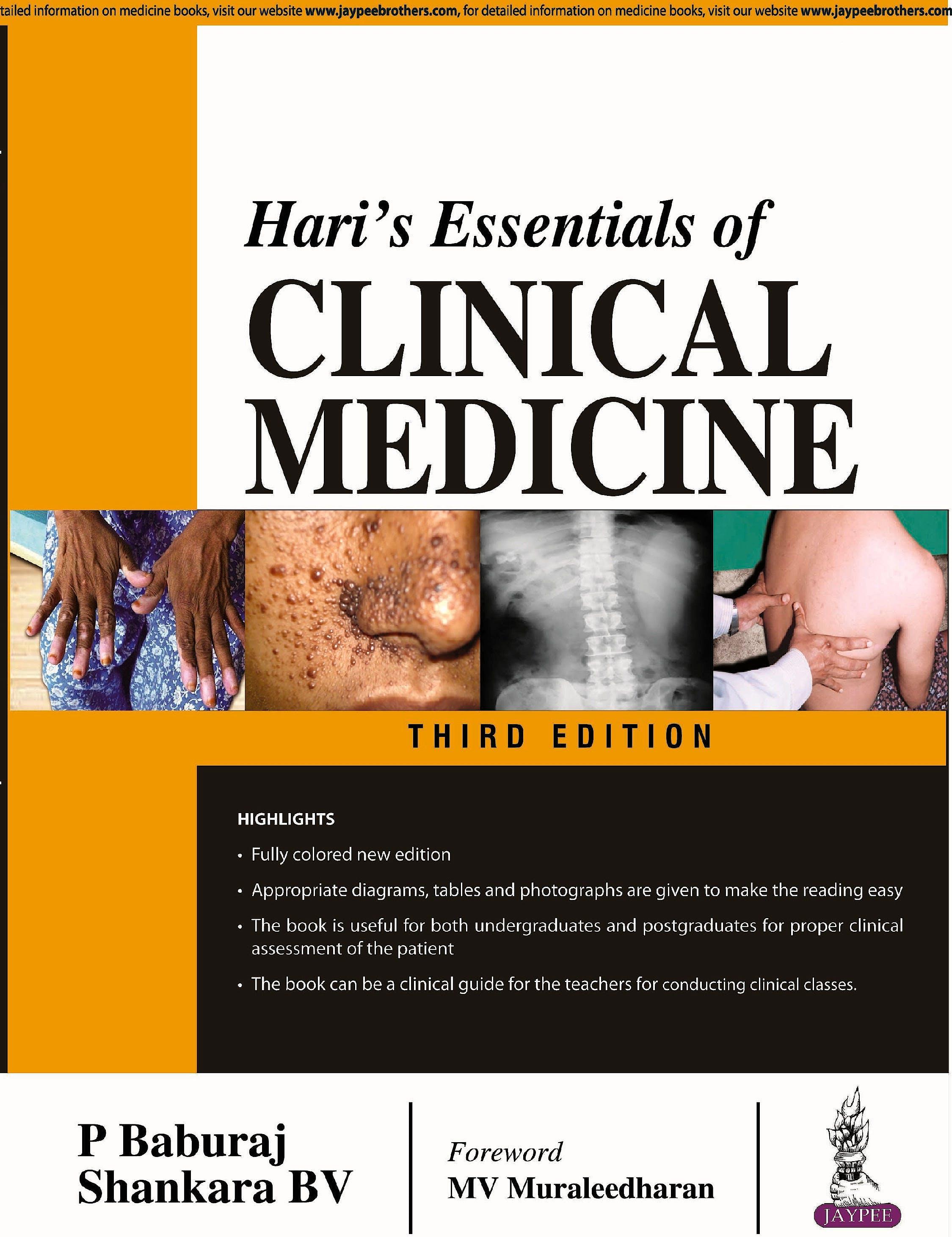 Portada del libro 9789352705344 Hari's Essentials of Clinical Medicine