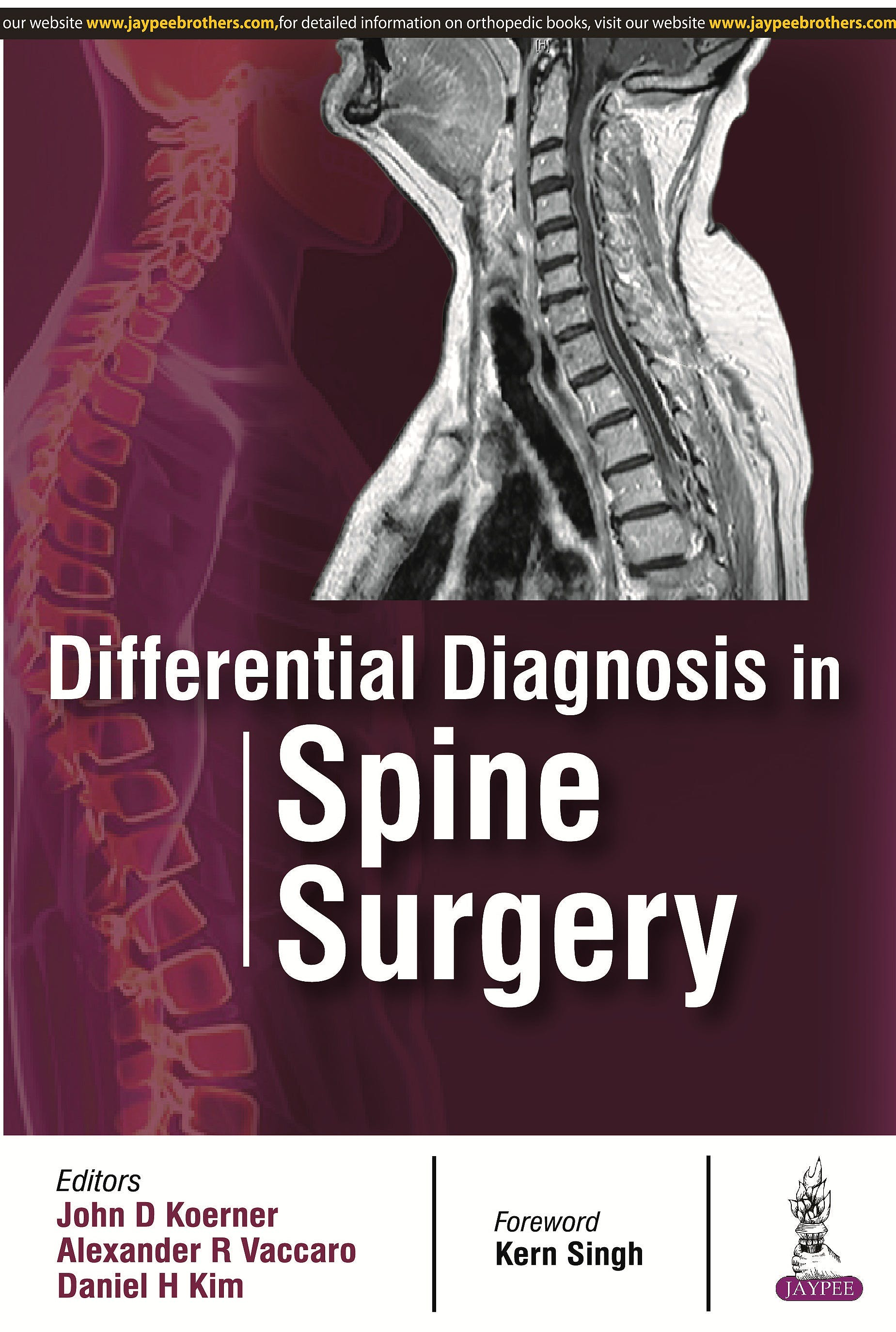 Portada del libro 9789385999475 Differential Diagnosis in Spine Surgery