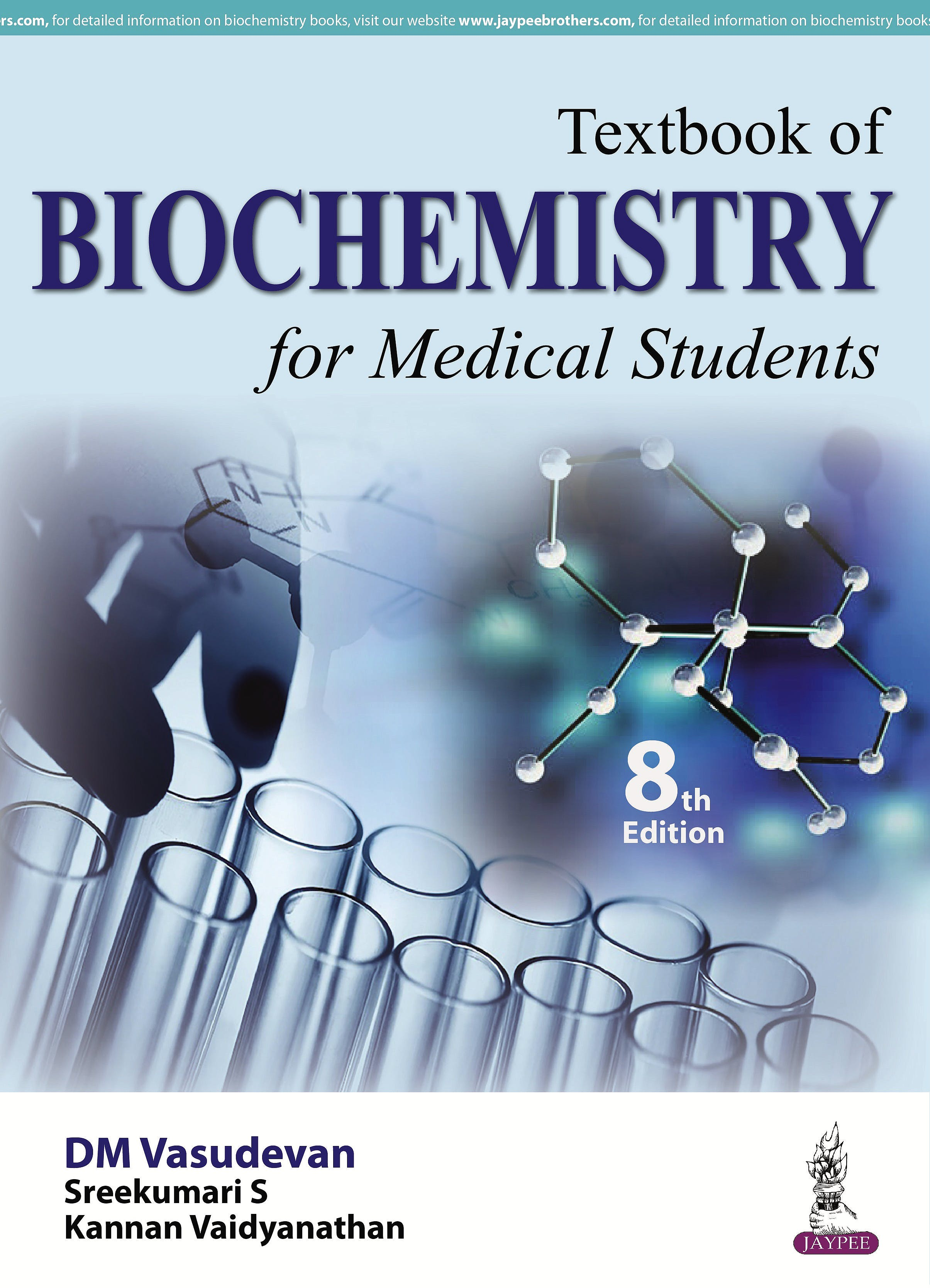 Portada del libro 9789385999741 Textbook of Biochemistry for Medical Students