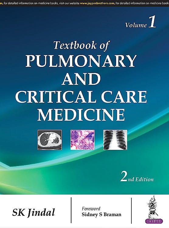 Portada del libro 9789385999994 Textbook of Pulmonary and Critical Care Medicine, 2 Vols.