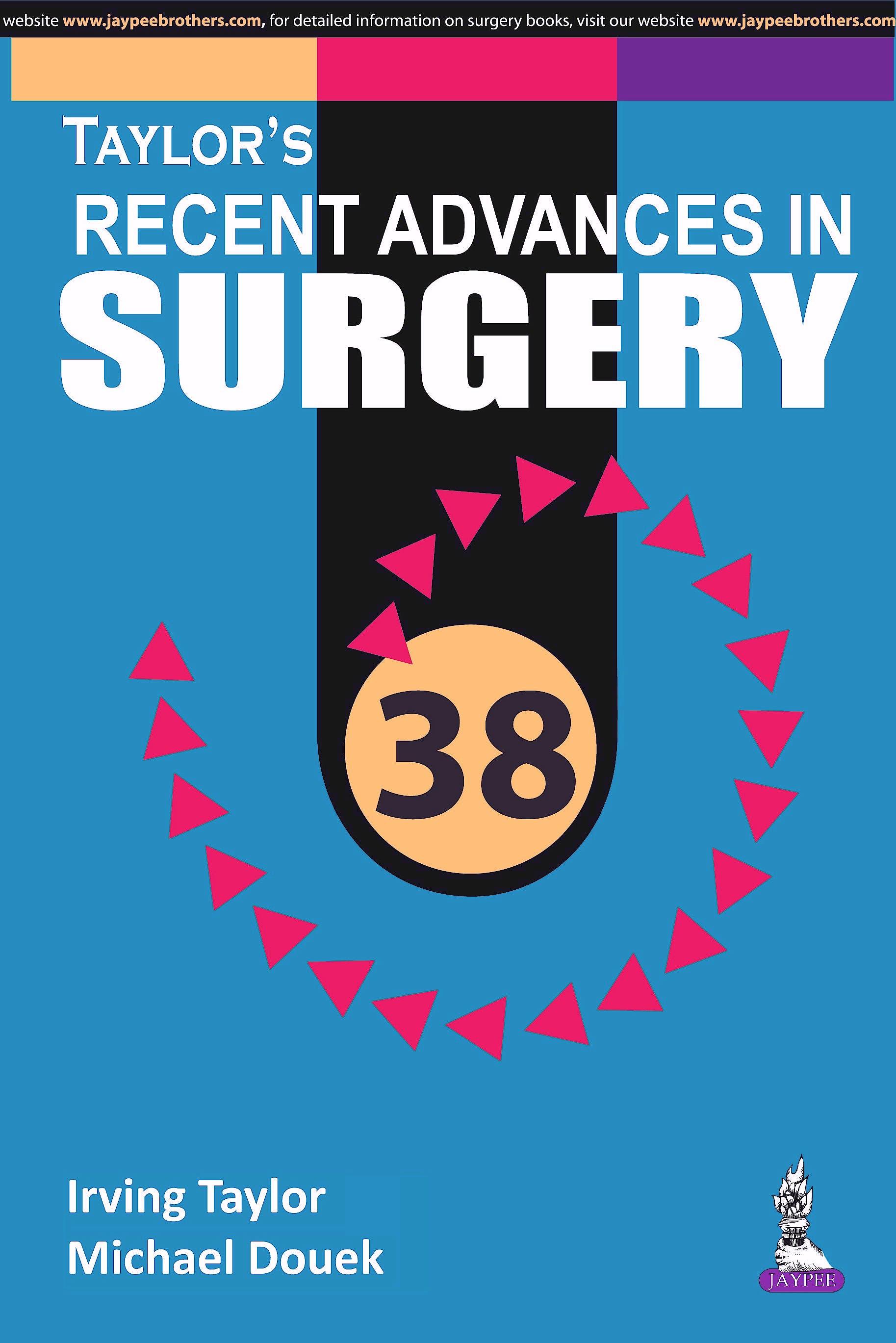 Portada del libro 9789386056078 Taylor's Recent Advances in Surgery, Vol. 38
