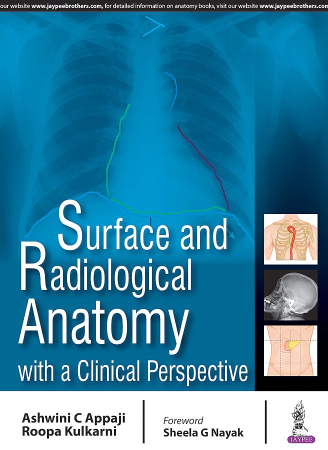 Portada del libro 9789386150547 Surface and Radiological Anatomy with a Clinical Perspective