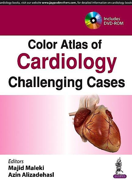 Portada del libro 9789386322142 Color Atlas of Cardiology Challenging Cases + Dvd