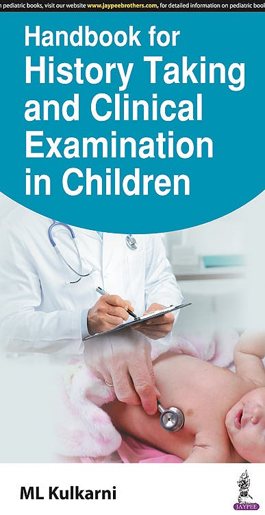 Portada del libro 9789386322753 Handbook for History Taking and Clinical Examination in Children