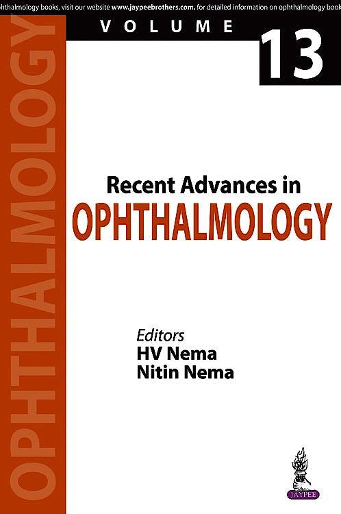 Portada del libro 9789386322784 Recent Advances in Ophthalmology, Vol. 13