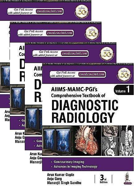 Portada del libro 9789390595556 Comprehensive Textbook of Diagnostic Radiology (4 Volume Set)