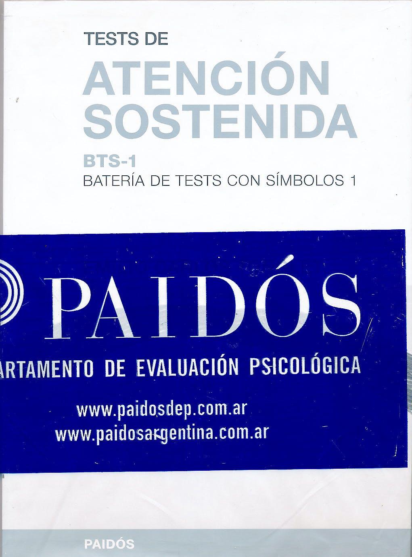 Portada del libro 9789501271027 Tests de Atencion Sostenida. Bts-1. Bateria de Test con Simbolos 1
