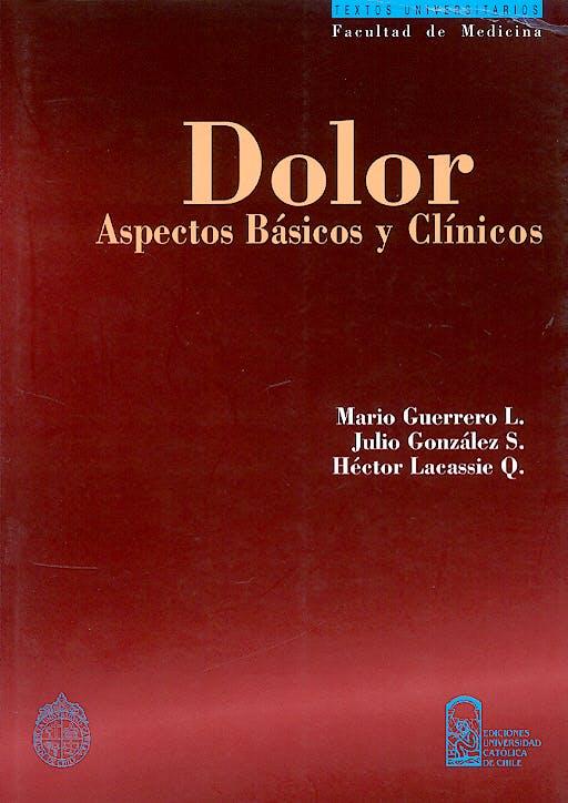 Portada del libro 9789561407503 Dolor. Aspectos Basicos y Clinicos