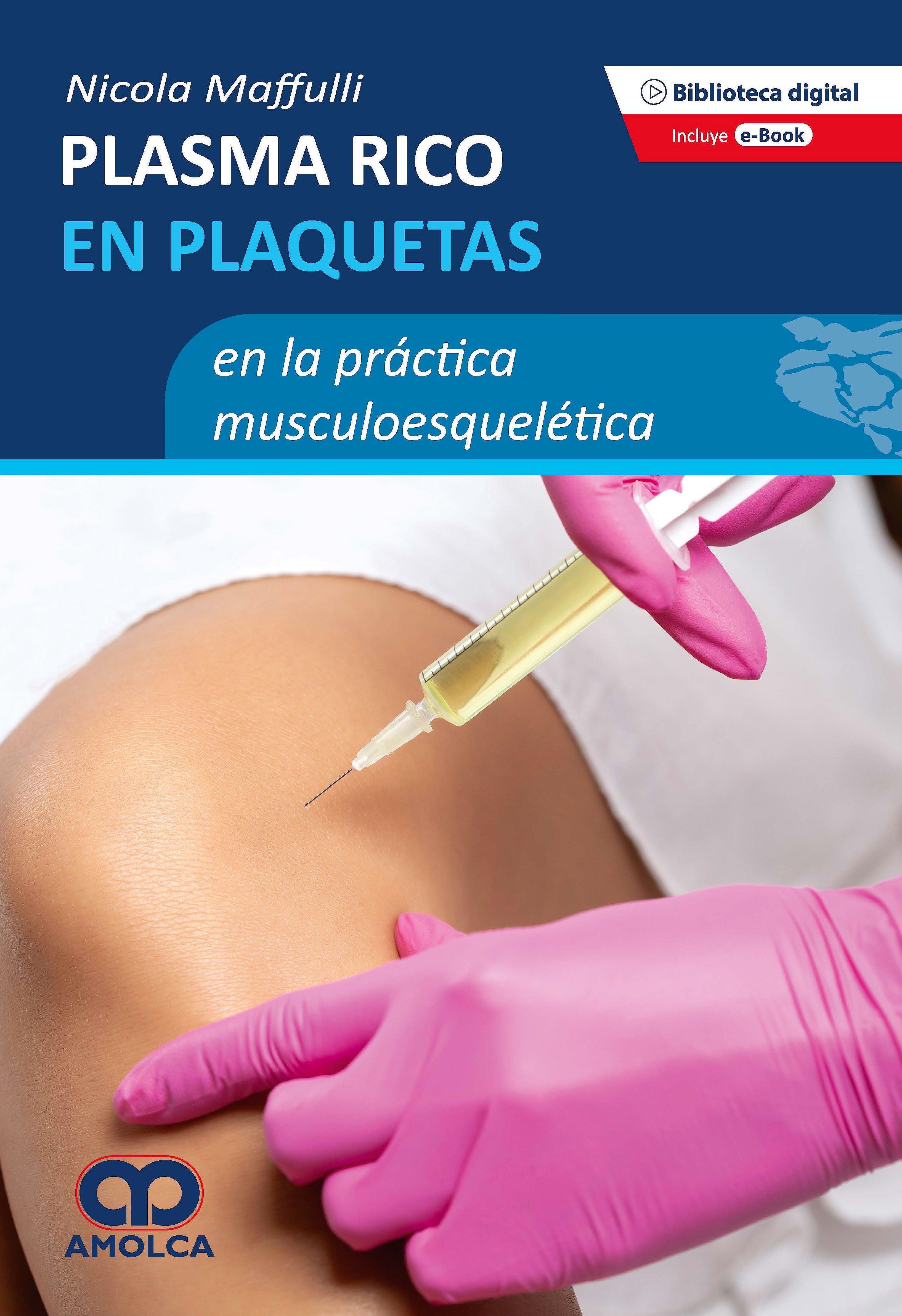 Portada del libro 9789585281684 Plasma Rico en Plaquetas en la Práctica Musculoesquelética (Incluye E-Book)