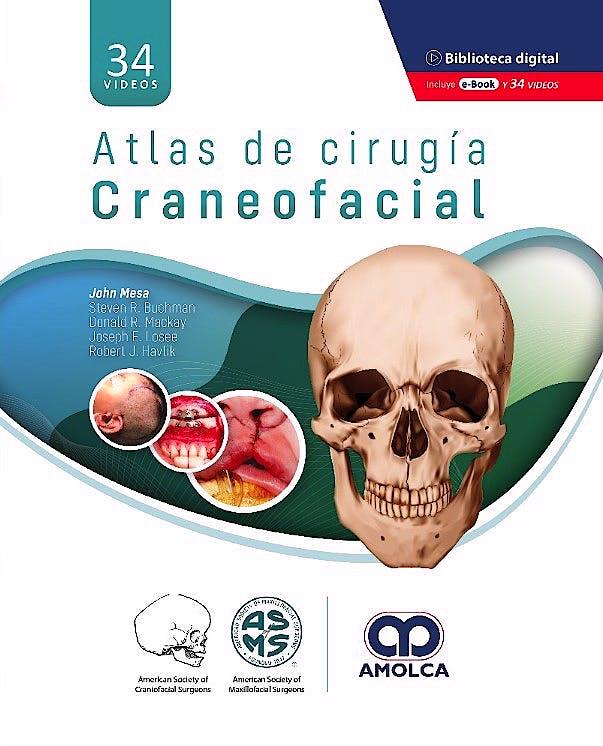 Portada del libro 9789585303508 Atlas de Cirugía Craneofacial (Incluye 34 Videos)