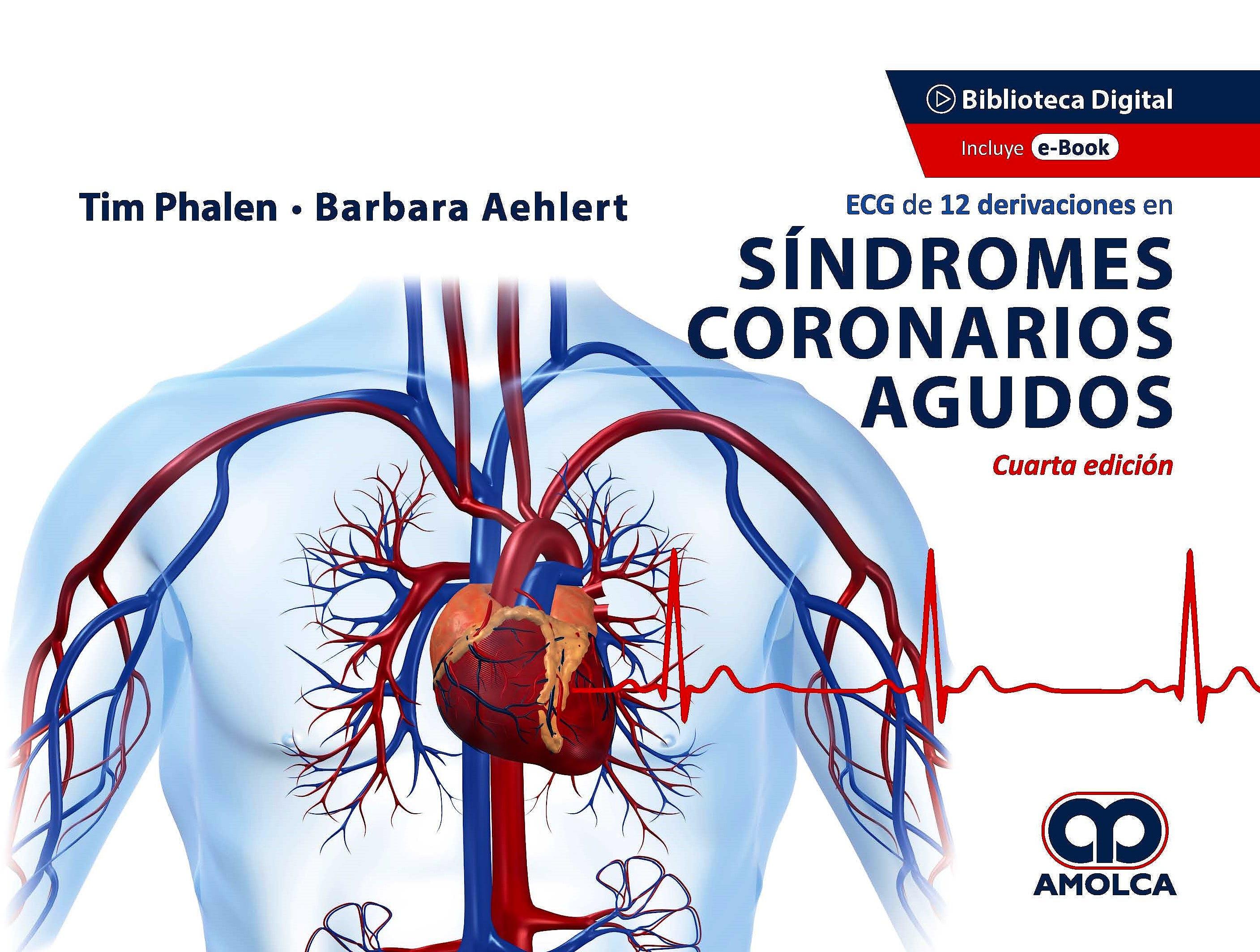 Portada del libro 9789585303546 ECG de 12 Derivaciones en Síndromes Coronarios Agudos