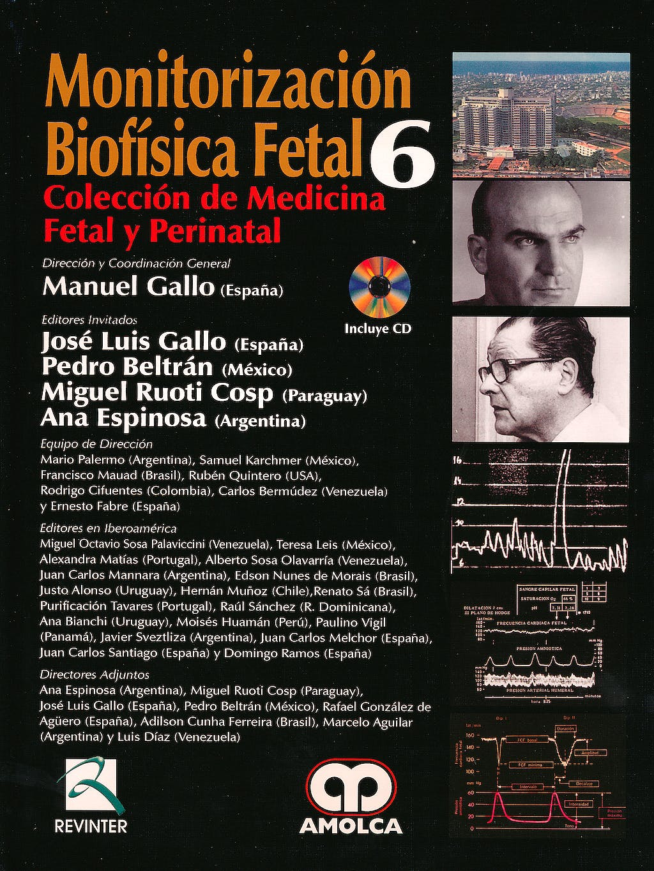 Portada del libro 9789587550528 Monitorización Biofísica Fetal + DVD (Colección de Medicina Fetal y Perinatal, Vol. 6)
