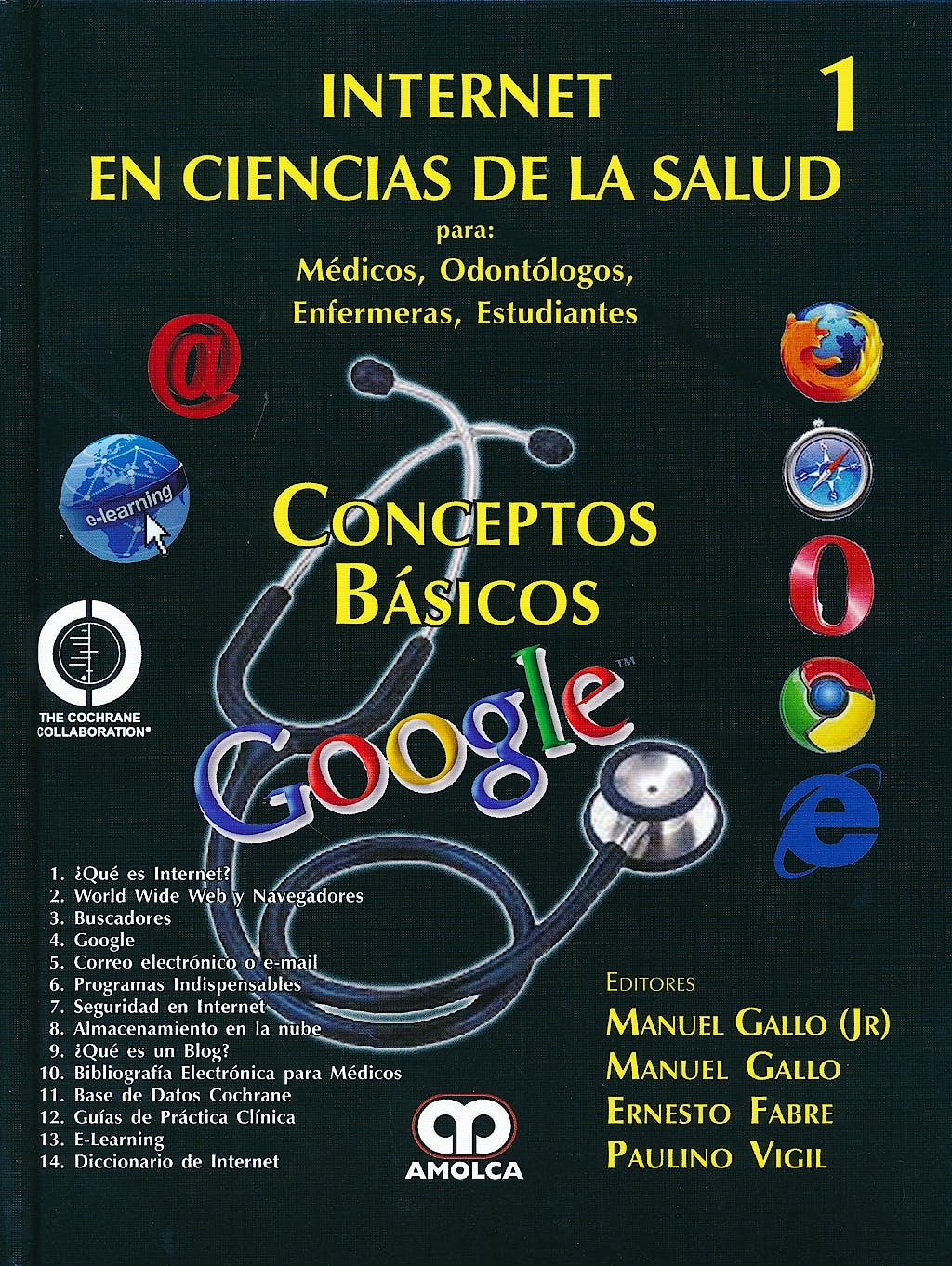 Portada del libro 9789588760971 Conceptos Basicos. Internet en Ciencias de la Salud 1