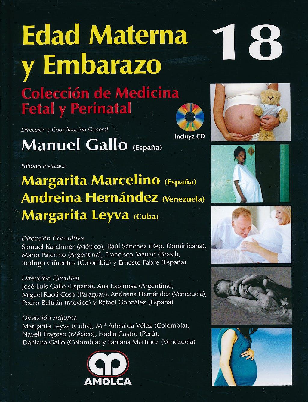Portada del libro 9789588871059 Edad Materna y Embarazo + Dvd (Coleccion de Medicina Fetal y Perinatal, Vol. 18)
