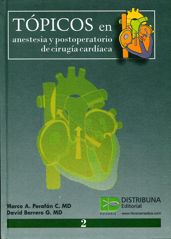 Portada del libro 9789589787533 Tópicos en Anestesia y Postoperatorio de Cirugía Cardíaca, Vol. 2