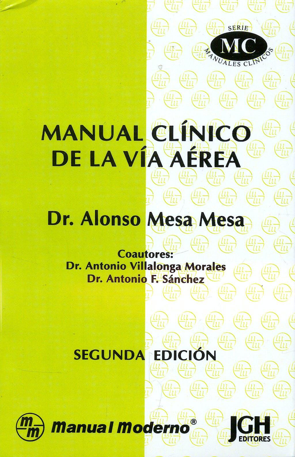 Portada del libro 9789684268975 Manual Clinico de la via Aerea