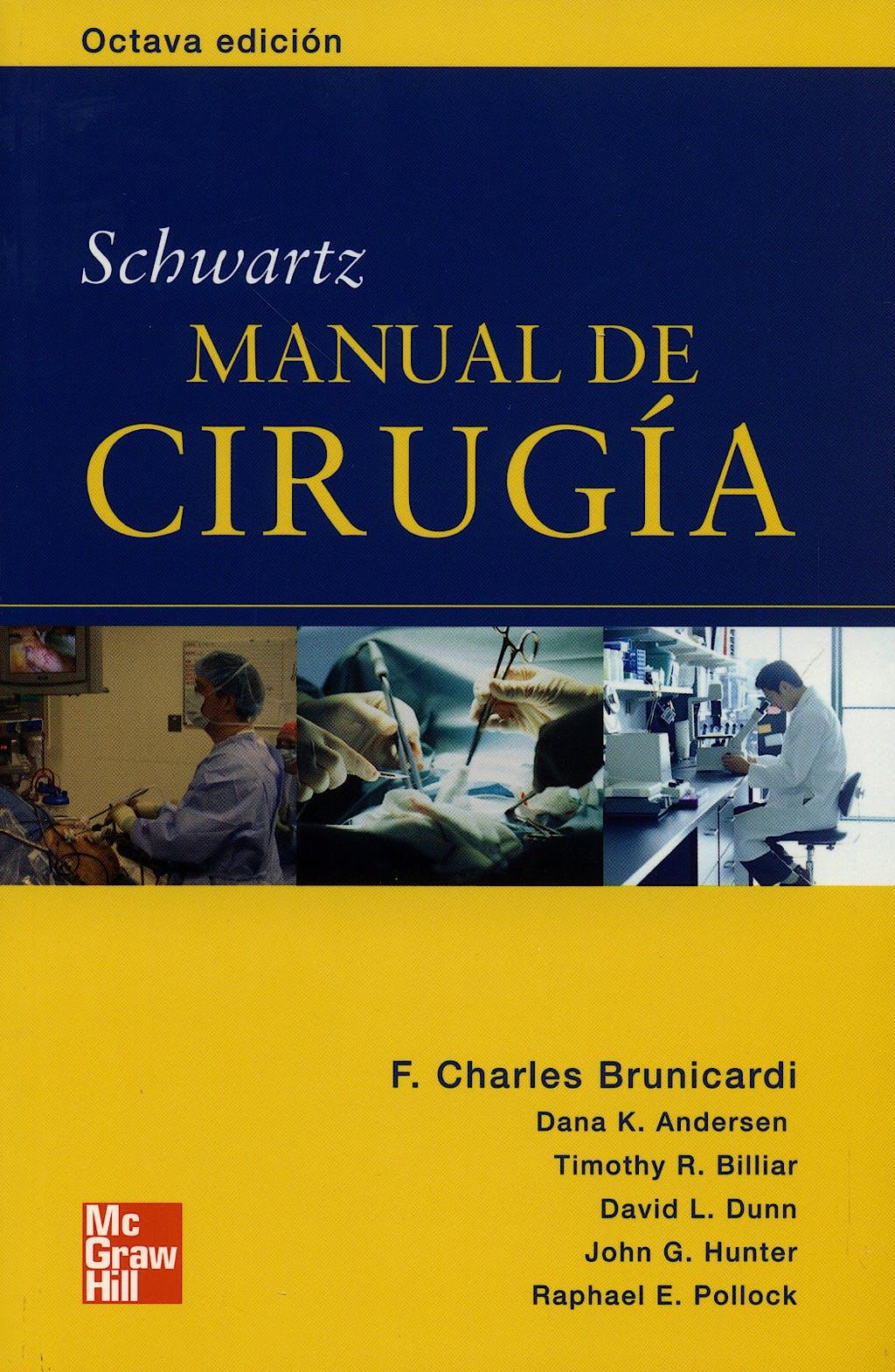 Portada del libro 9789701061909 Schwartz Manual de Cirugia