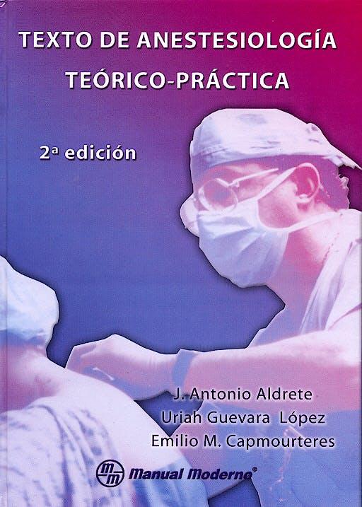 Portada del libro 9789707290594 Texto de Anestesiologia Teorico-Practica