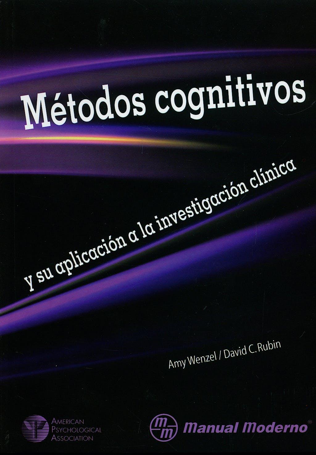 Portada del libro 9789707293540 Metodos Cognitivos y Su Aplicacion a la Investigacion Clinica