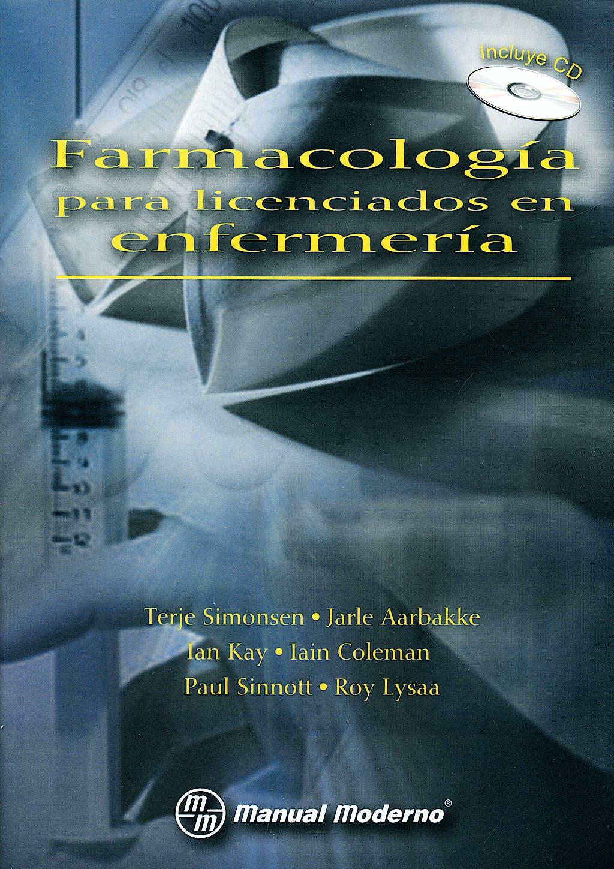 Portada del libro 9789707293762 Farmacología para Licenciados en Enfermería + CD