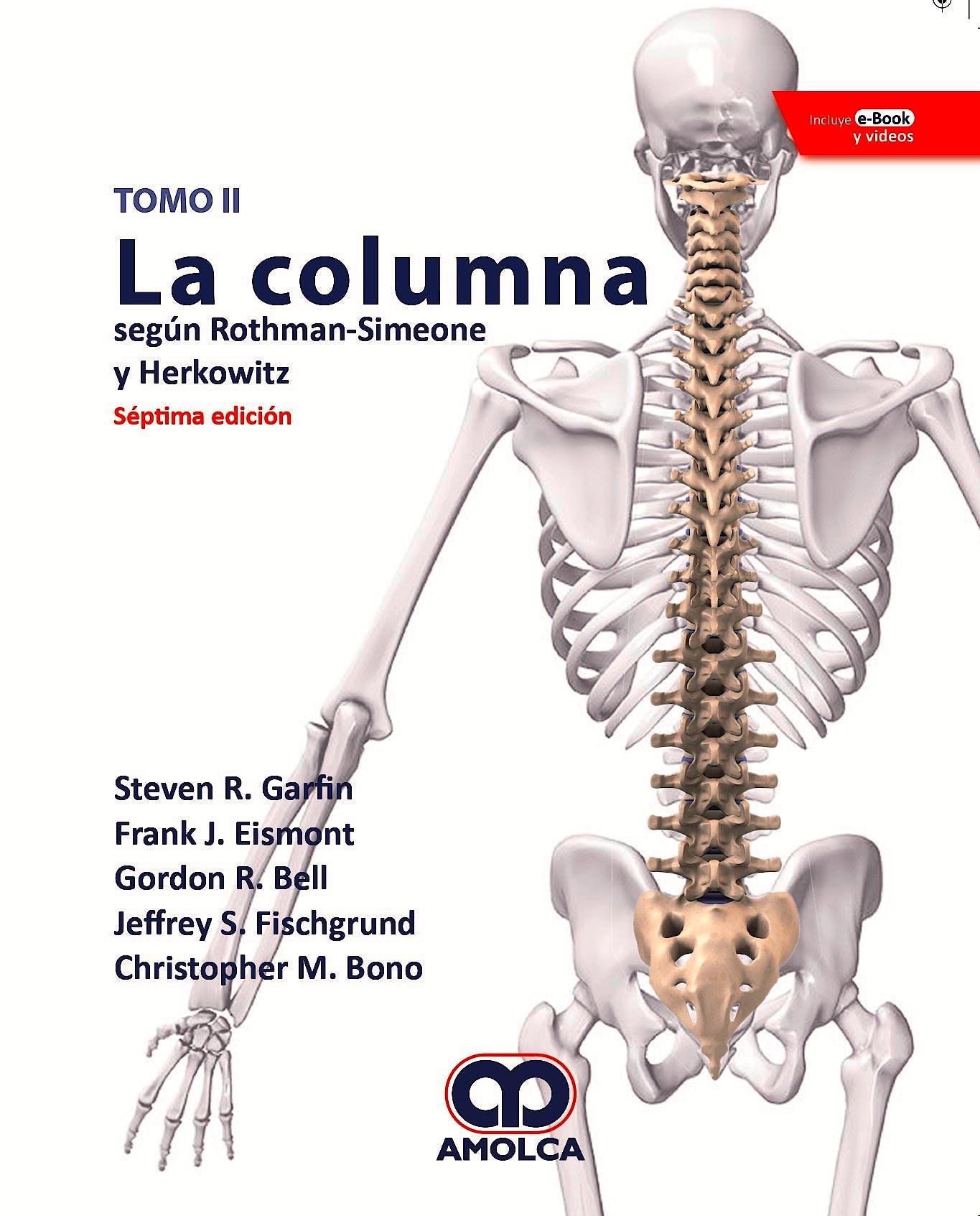 Portada del libro 9789804300738 La Columna según Rothman-Simeone y Herkowitz, 2 Vols. + E-Book y Videos