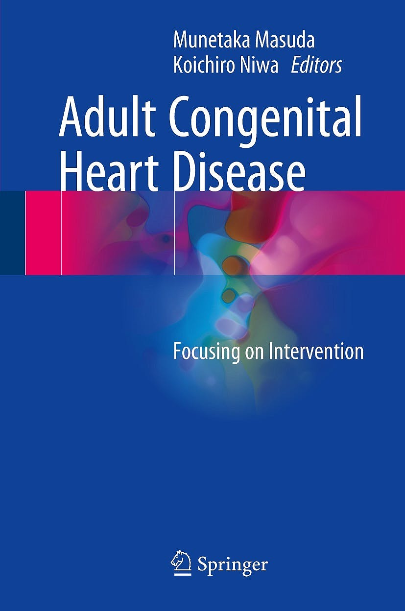Portada del libro 9789811045417 Adult Congenital Heart Disease. Focusing on Intervention