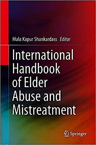 Portada del libro 9789811386091 International Handbook of Elder Abuse and Mistreatment