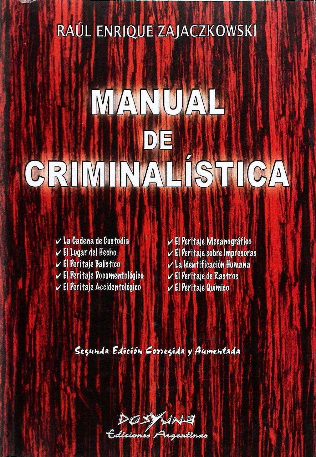 Portada del libro 9789871573219 Manual de Criminalística