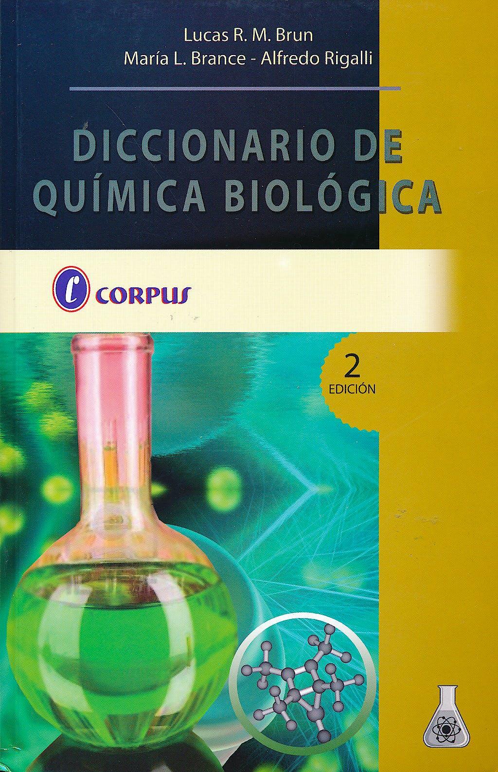 Portada del libro 9789871860012 Diccionario de Química Biológica