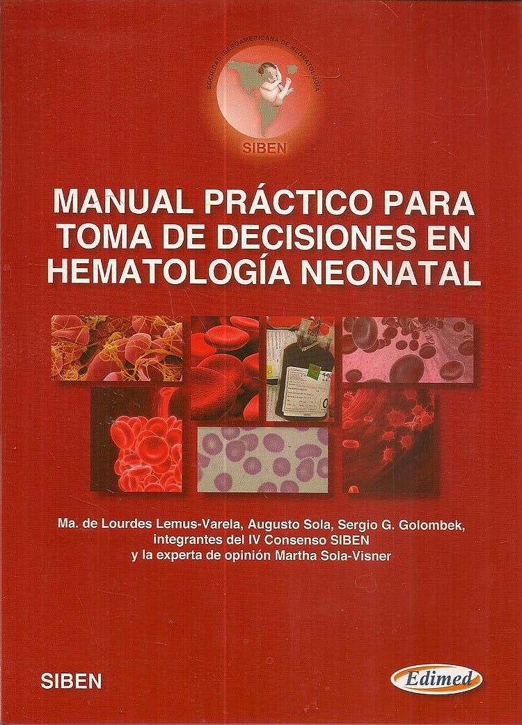 Portada del libro 9789872530396 Manual Practico para Toma de Decisiones en Hematologia Neonatal
