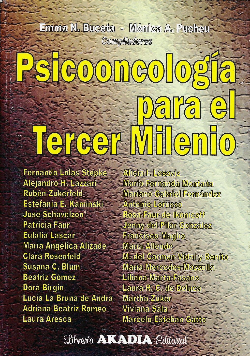 Portada del libro 9789875702608 Psicooncología para el Tercer Milenio