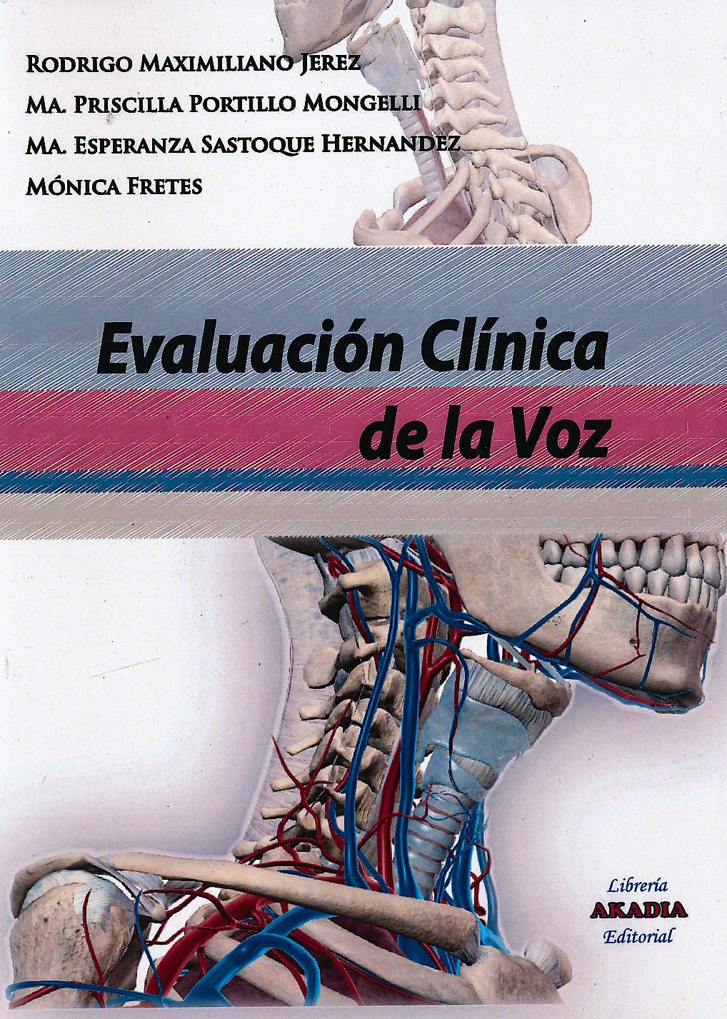 Portada del libro 9789875702981 Evaluación Clínica de la Voz