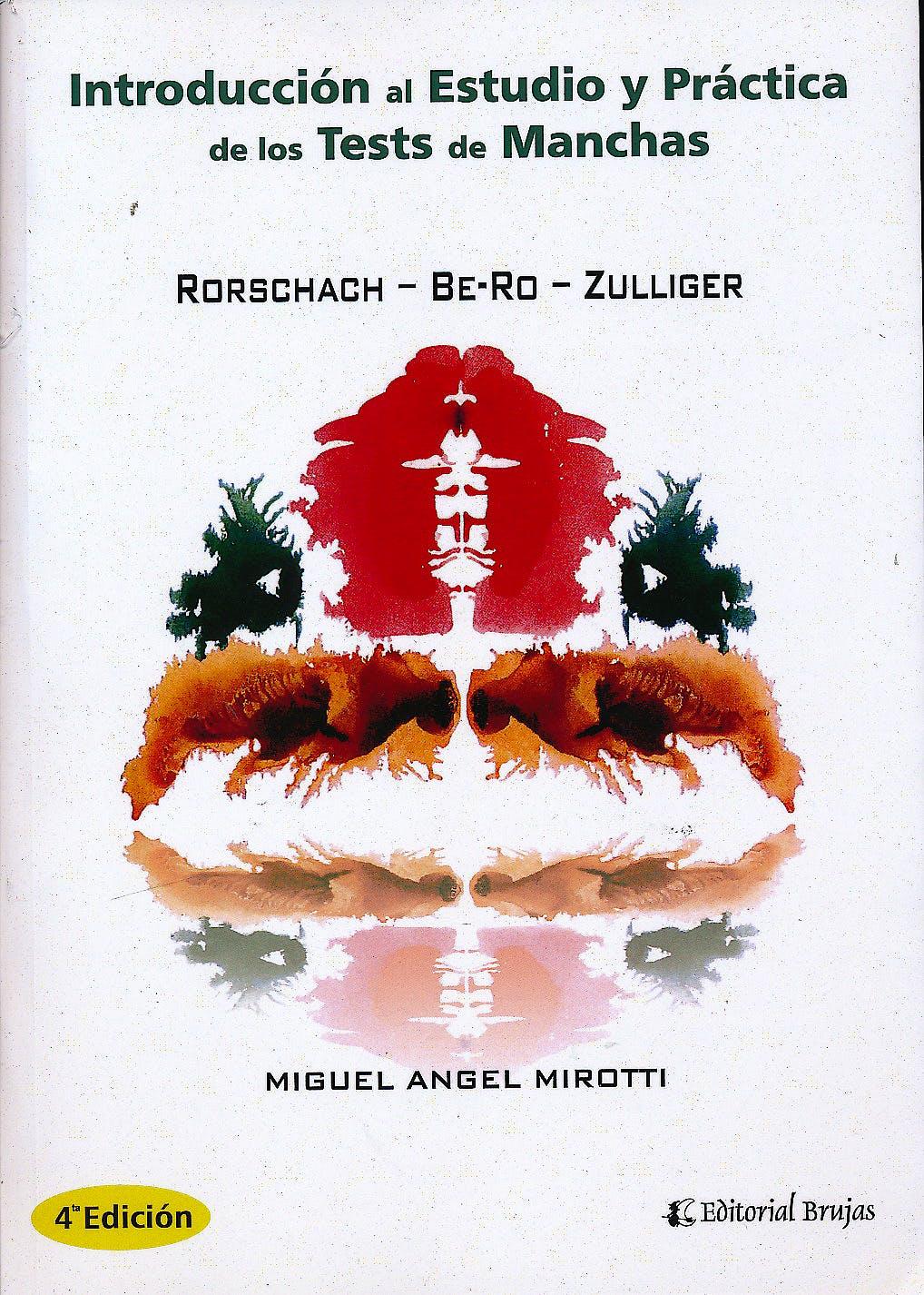 Portada del libro 9789875915787 Introduccion al Estudio y Practica de los Test de las Manchas  Rorschach - Be-Ro - Zulliger