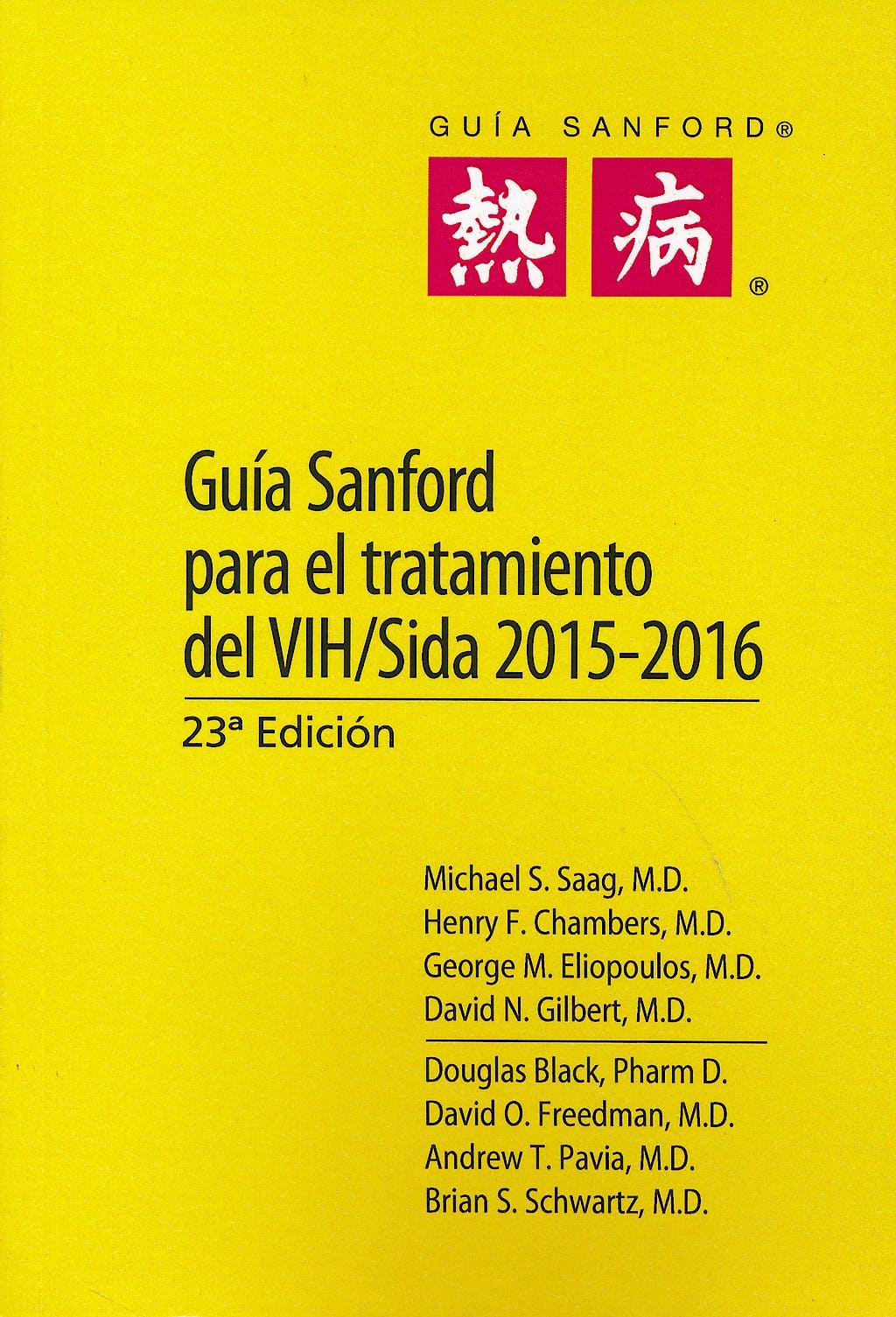 Portada del libro 9789876390408 Guía Sanford para el Tratamiento del VIH/Sida 2015-2016