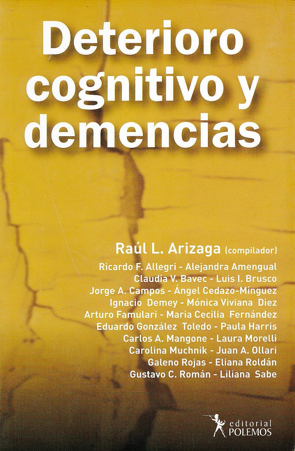 Portada del libro 9789876490337 Deterioro Cognitivo y Demencias