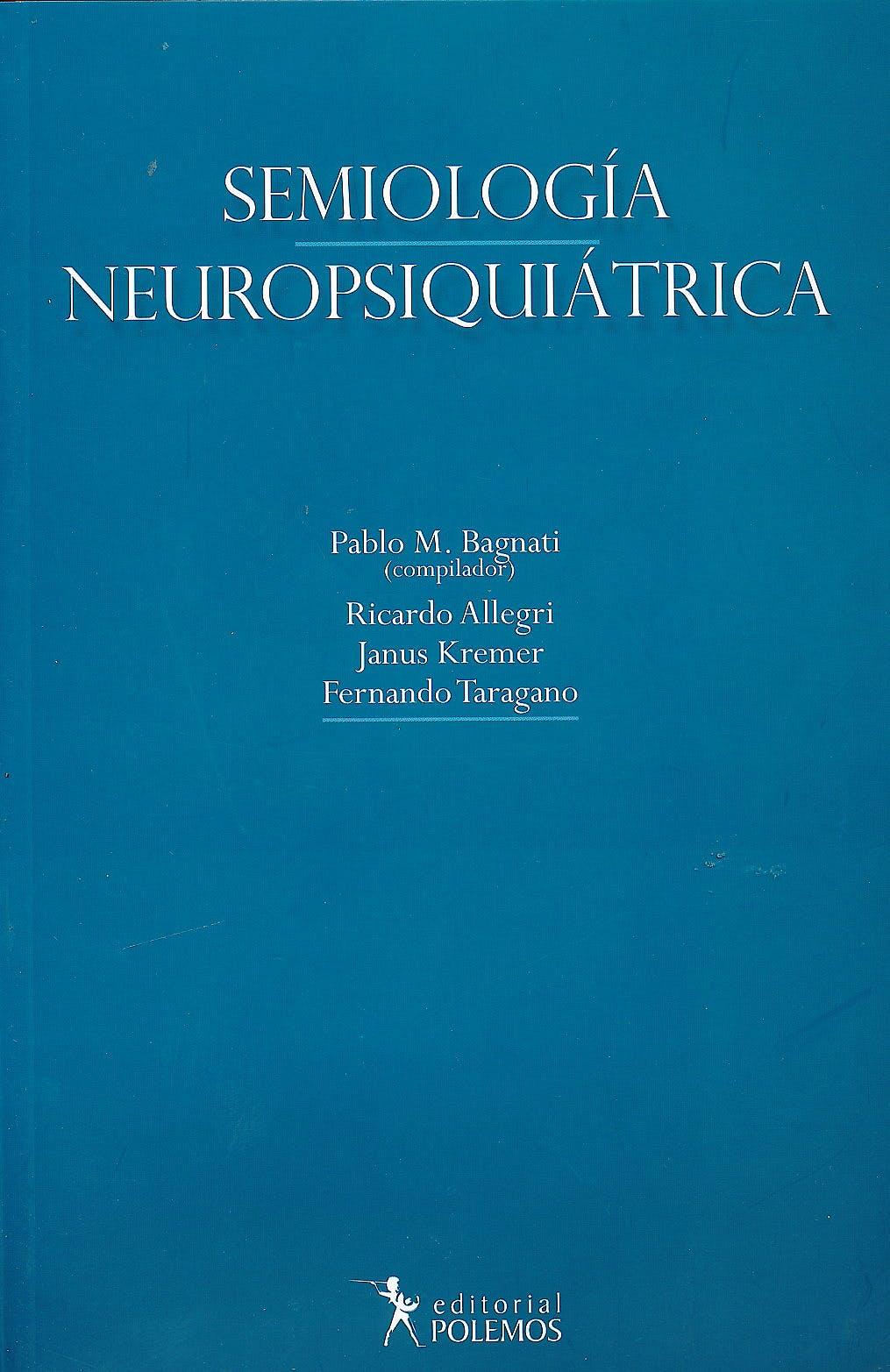 Portada del libro 9789876490535 Semiologia Neuropsiquiatrica