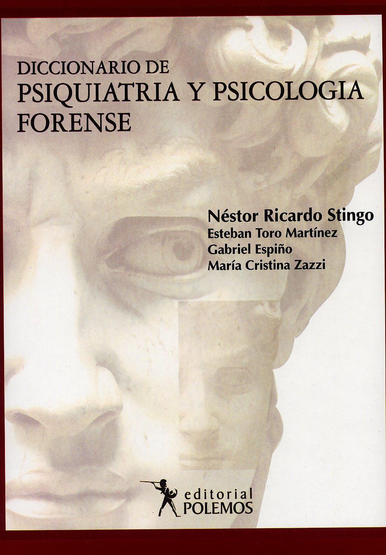 Portada del libro 9789879165737 Diccionario de Psiquiatria y Psicologia Forense