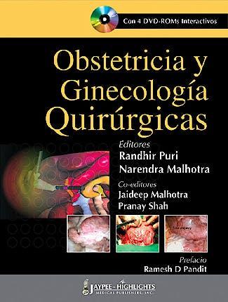 Portada del libro 9789962678205 Obstetricia y Ginecologia Quirurgicas + 4 Dvd-Rom