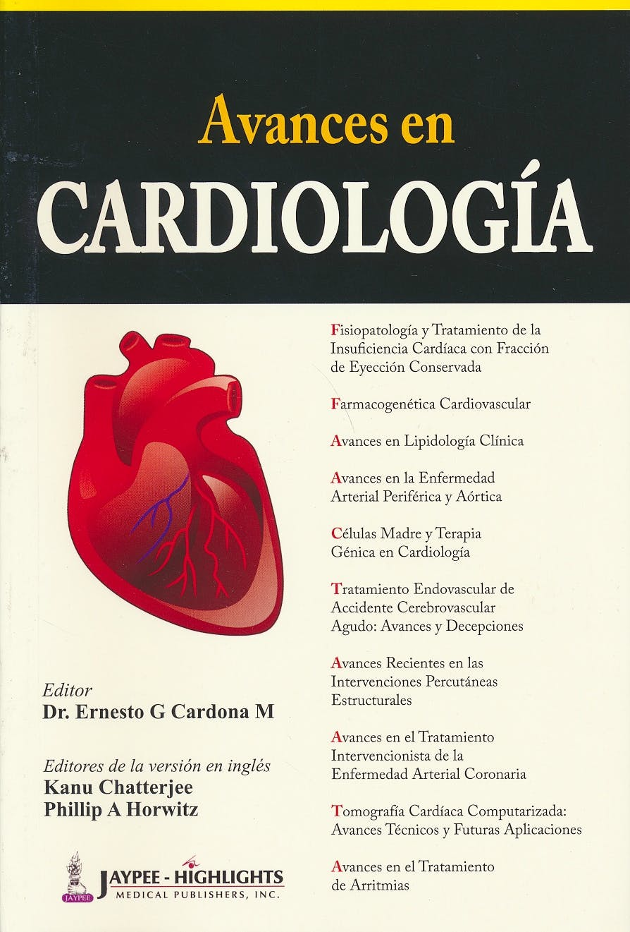 Portada del libro 9789962678793 Avances en Cardiología