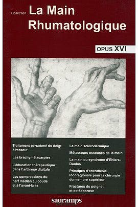 Portada del libro 9791030300260 La Main Rhumatologique Opus XVI