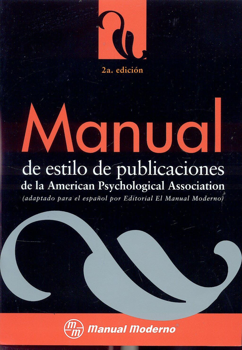 Portada del libro 9799684269780 Manual de Estilo de Publicaciones de la American Psychological Association